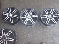 Alloy wheels 15inch multifit in used condition