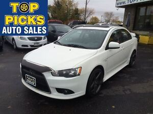 2013 Mitsubishi Lancer GT AWD, LEATHER, SUNROOF, GUN METAL ALLOY