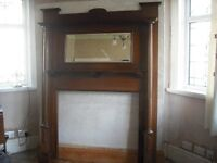 Antique fire surround with mirror vgc £175 ono