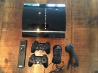 PS3 250GB including 2 controllers, remote and wires