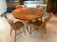 SOLID PINE table and 4 chairs £40