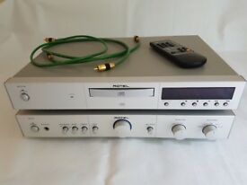 Rotel RA-01 Stereo Amp, RCD-02 CD player with AE Aegis Evo speakers, speaker stands and all cables