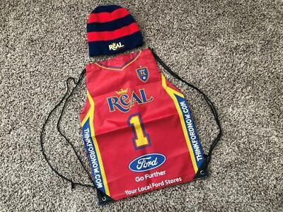 Real Salt Lake MLS Soccer Football Beanie Hat + Bonus Drawstring Ford Logo Bag