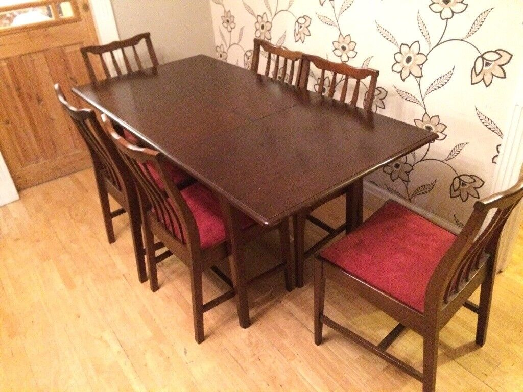 STAG SOLID WOOD EXTENDING DINING TABLE WITH 6 CHAIRS
