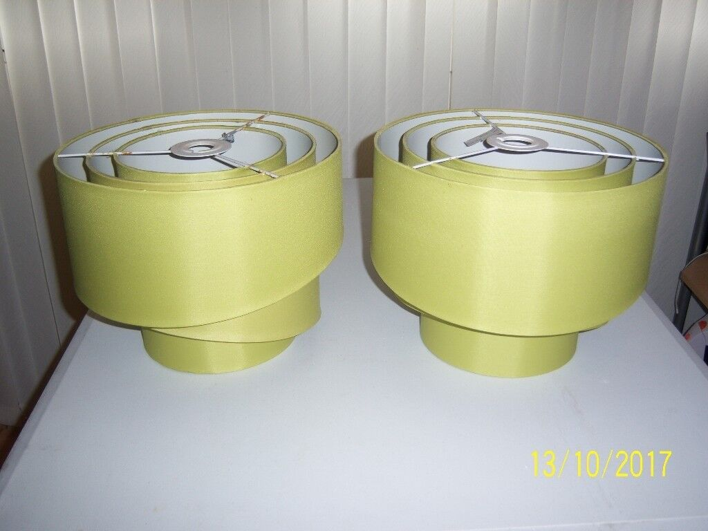 Pair of stunning lime green contemporary light shades