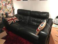 Large 2 seat leather recliner sofa