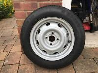145 r13 4 stud Spare wheel and tyre