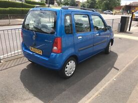 Blue Vauxhall Agila 1.2 Petrol 5 Doors