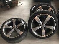 "Rotar alloys 19"" good tyres 5x112 fitments"