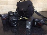 Nikon D300 camera, lens, case and flash. Full set all for £499!