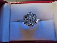 Edwardian daisy cluster diamond (1.4ct) ring