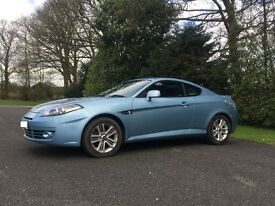 Hyundai Coupe SIII 2007 1.6 Light Blue MOT 2018 Leather Seats Air Conditioning CD Player Alloys