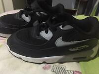Size 9.5 child's Nike Air Max trainers (worn for no longer than 2 hours)