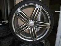 20inch rs6 single alloy wheel x1 with tyre 5x112 a4 a6 audi s line b8 a8