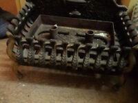 fireplace centerpiece grate cast iron