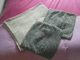 Grey fleece blanket & cushion covers