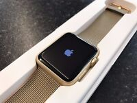 Apple Watch 42mm Gold Sport Nylon Strap Boxed with Charger