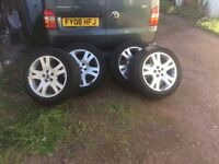 "Genuine Range Rover 19"" alloys and tyres"