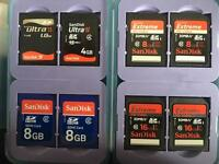 Selection of SD cards