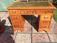 USED LEATHER TOP DESK