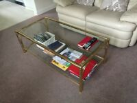 Glass coffee table & matching nest of tables