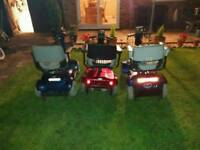 There is 3 mobility scooter and in great condition