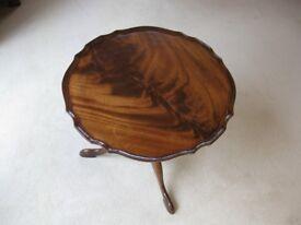 Elegant Mahogany Pie Crust Coffee Table 50cm (20in) diam