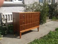 Neil Morris Glasgow Cumbrae Walnut & Sycamore Chest of Drawers