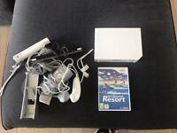 NINTENDO WII WITH SPORTS RESORT ALL CABLES