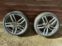 2 Audi wheels and tyres