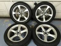 18 inch bmw alloy wheels with winter tyres