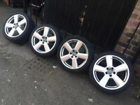 "18"" genuine rs6 alloy wheels 5x112 golf mk5 PASSAT Audi A4 A3 A6 caddy touran seat Skoda"