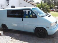 Vw t4 transporter partial convertion