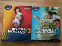 Health and social care books.