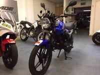 Senke SK 125 X 125cc Manual Motorcycle, Blue, Good Condition, Alarm, Cat C