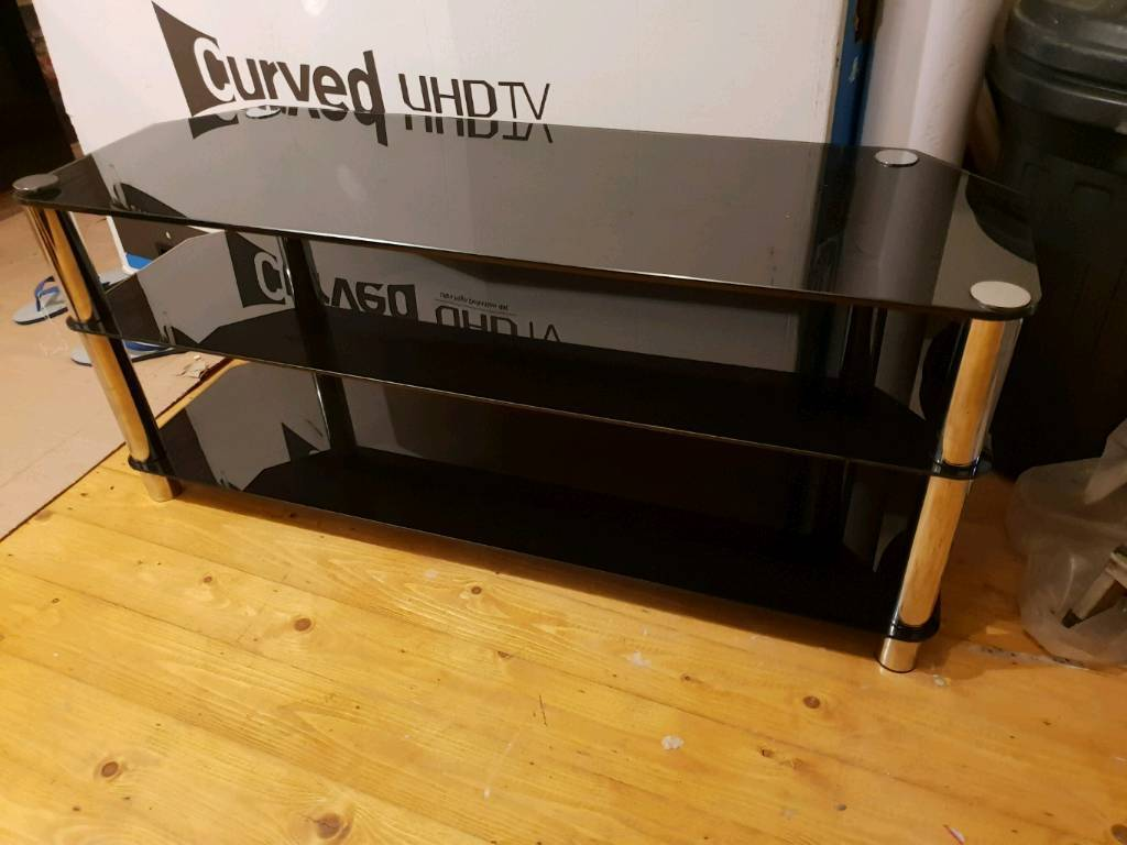 Black Glass Tv Stand 48 Inches Wide In Blackburn Lancashire