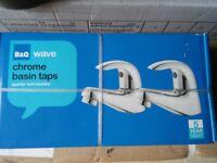 B&Q wave chrome basin taps brand new....