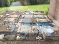 900 x 600 x 50 slabs previously used under decking for support and in good condition.