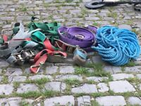 Drill bits,lorry straps and ropes,metal detectors x2
