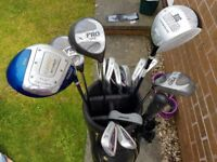 Set of Golf Clubs and With Golf Bag and Accessories