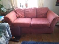 Well loved and tired sofa for sale (very comfy)