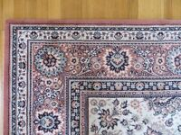 WOOL RUG/CARPET DUSTY PINK 2.4m X 3.4m TRADITIONAL DESIGN