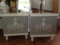Vintage Hand Painted Side Tables