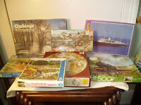 9 JIGSAWS FROM 60 PIECE TO 600 PIECE
