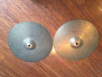 "Wokingham Drum Sales - Cast Bronze Hi Hat Cymbals 14"" - Bargain for such a great sound"