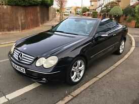 2004 Mercedes CLK200 Auto Convertible Avantgarde Black Full Leather Command BARGAIN