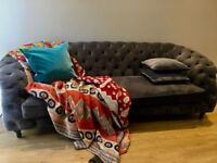 Beautiful and colourful warm bed quilts handmade using second hand Indian saris