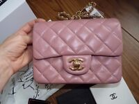 Chanel classic mini with gold hardware