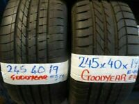"**sale** WIDE SELECTION 19"" TYRES 6mm+ treadALL £45 EACH SUP & fittd 7dys (punct £10 opn sunday 4pm"