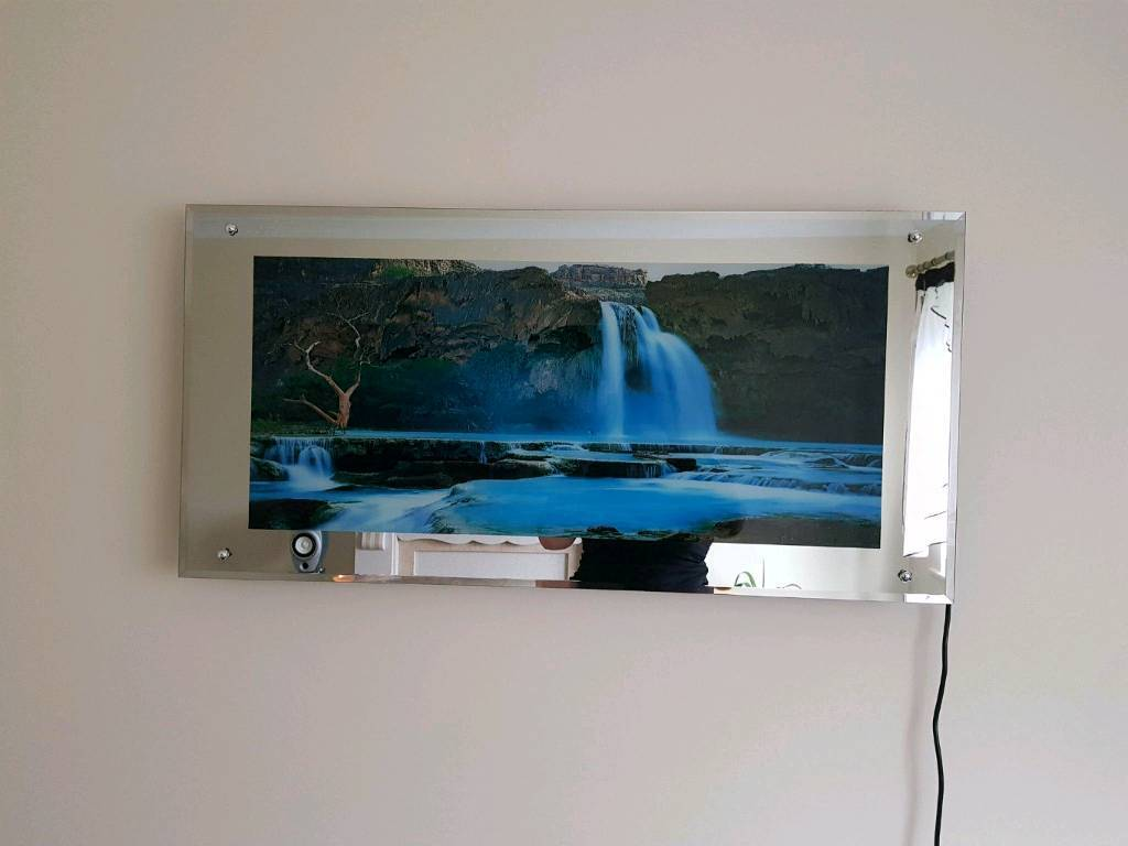 Light Up Moving Waterfall Picture Lamp With Adjustable Sound 100x50x7